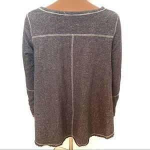 Free People Sweaters - Free People Gray Striped Pullover Sweatshirt